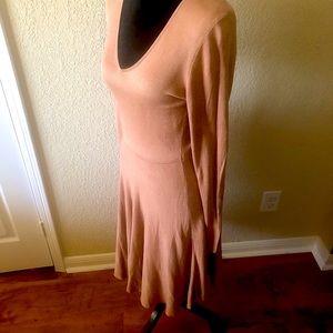 Tan long sleeved dress in medium